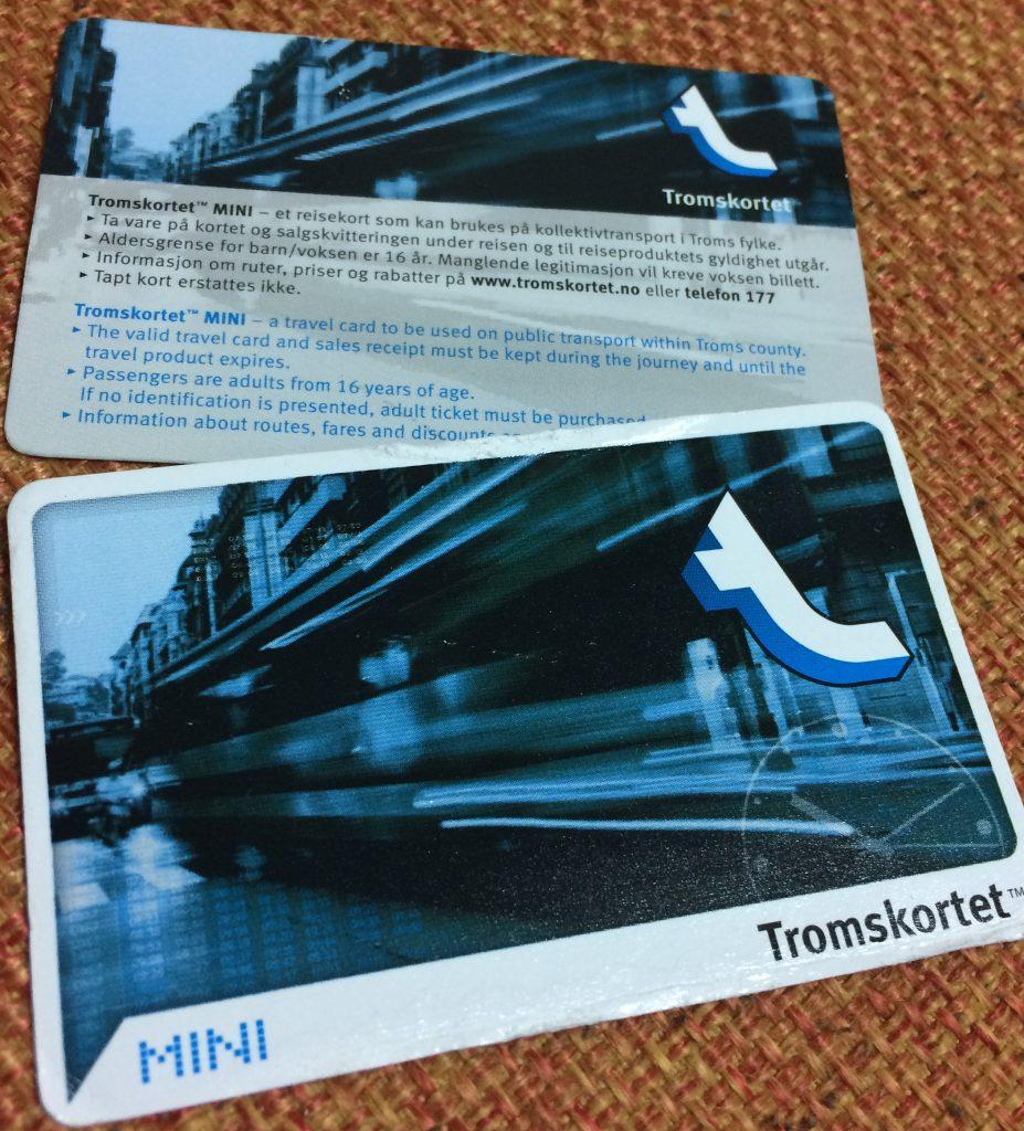 トロムソのバスカード